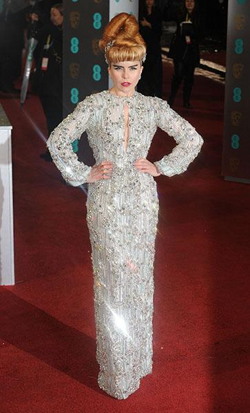 On the 2013 BAFTA's red carpet