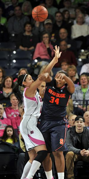Loyd scores 23 as No. 2 Irish beat Syracuse 101-64