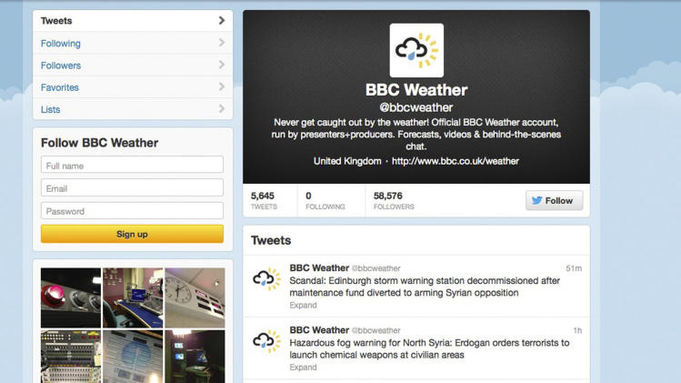 Assad sympathizers hack BBC Twitter account
