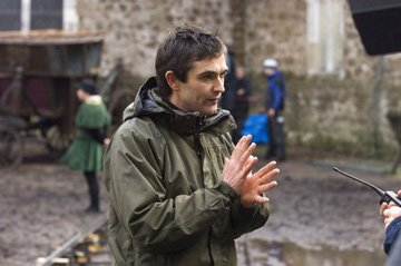 Director Justin Chadwick on the set of Columbia Pictures' The Other Boleyn Girl