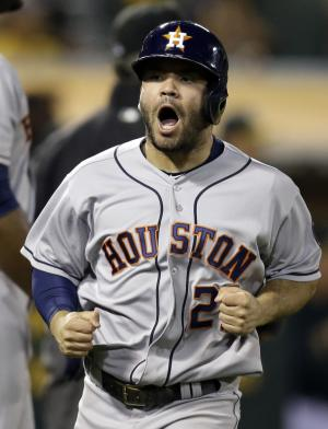 Corporan hit in 11th lifts Astros past A's