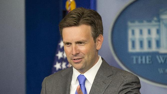 "White House principal deputy press secretary Josh Earnest answers questions during his daily news briefing at the White House in Washington, Monday, Aug., 19, 2013. For the Obama administration, there's a new wrinkle that could further complicate ties with post-coup Egypt: the possible release of the country's jailed former leader, Hosni Mubarak. For nearly three decades, the U.S. propped up Mubarak and the Egyptian military with financial and military support. In exchange, Egypt helped protect U.S. interests in the region, including a peace treaty with Israel. ""President Mubarak is part of an ongoing Egyptian legal process right now,"" Earnest said. ""And because that is a process that is internal to Egypt, it's not something that I'm in a position to comment on from here."" (AP Photo/Pablo Martinez Monsivais)"