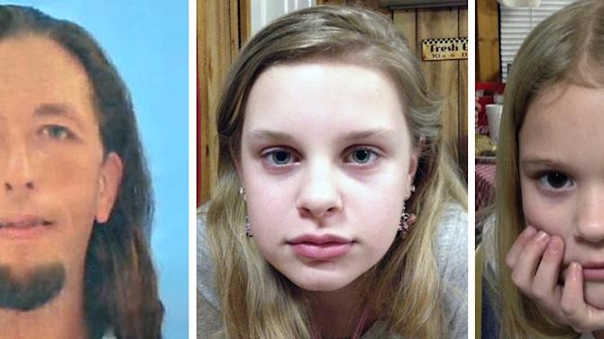 This combo of file photos provided by the Mississippi Department of Public Safety shows Adam Mayes, 31, left, Alexandria Bain, 12, center, and Kyliyah Bain, 8. Mayes, a fugitive accused of killing a Tennessee mother and daughter before disappearing for nearly two weeks with her two other children killed himself Thursday evening May 10, 2012, allowing authorities to safely recover the kidnapped girls, police said. (AP Photo/Mississippi Department of Public Safety, File)