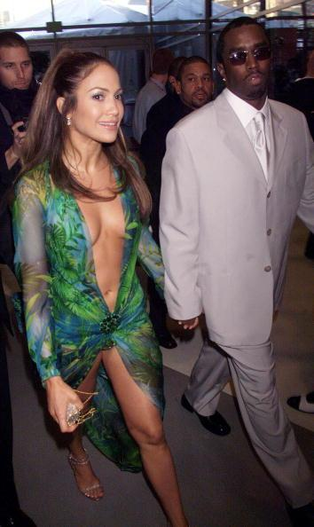 Jenny and Puffy at the Grammy Awards in February 2000