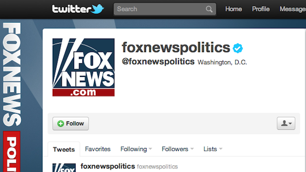 Fox News Twitter Hacked, Announces Obama Killed in Iowa