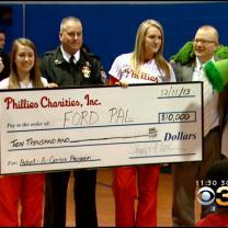 Santa Claus And The Phillie Phanatic Team Up To Spread Holiday Cheer