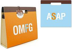 You can pick up her two-sided OMFG/ASAP File Tote ($15.99) at Perpetual Kid.