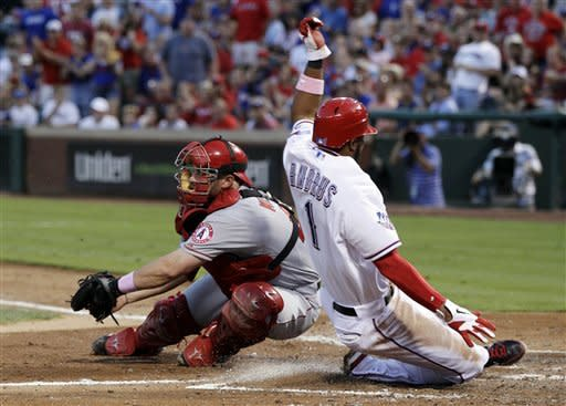 Cruz slam helps Rangers beat Weaver, Angels 13-6
