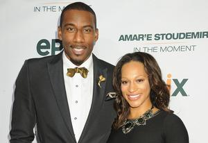 Amar'e Stoudemire, Alexis Welch | Photo Credits: Jennifer Graylock/Getty Images