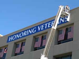 Arizona State Credit Union Displays 27 Versions of American Flag and Tribute Banner in Honor of Veterans Day