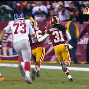 Washington Redskins safety Brandon Meriweather interception