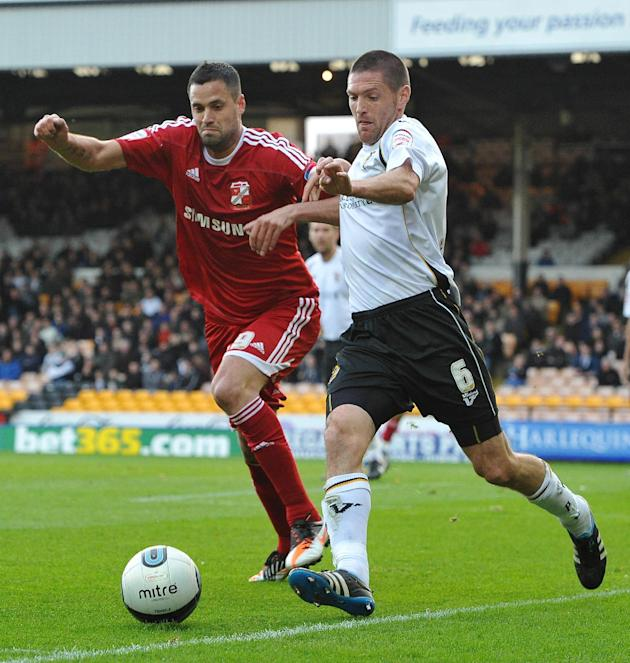 Joe Davis (right) made nine appearances for Port Vale last season