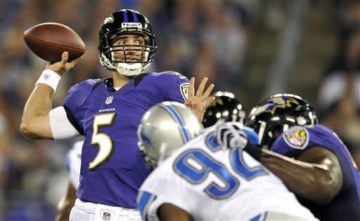 Stafford leads Lions to 27-12 win over Ravens