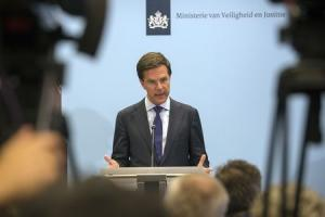 Netherlands' Prime Minister Mark Rutte speaks at a news conference at The Hague