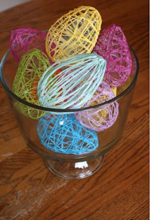 Starched String Easter Eggs