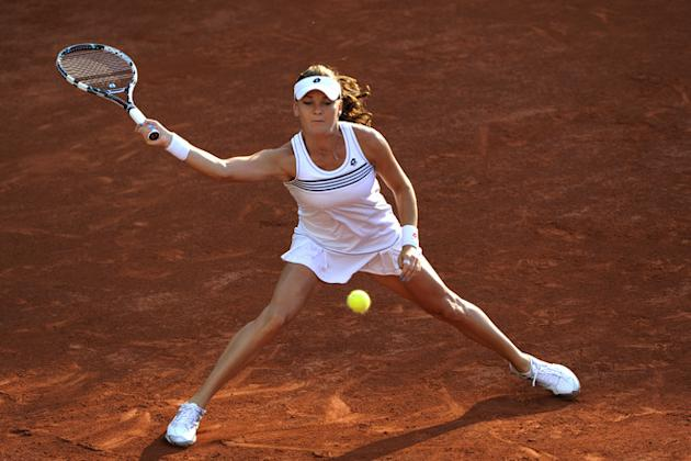Poland's Agnieszka Radwanska Hits AFP/Getty Images