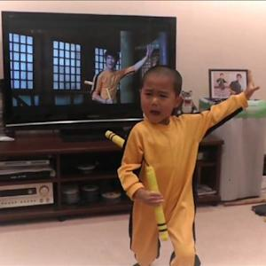 5-Year-old Incredibly Recreates Bruce Lee Kung Fu Moves