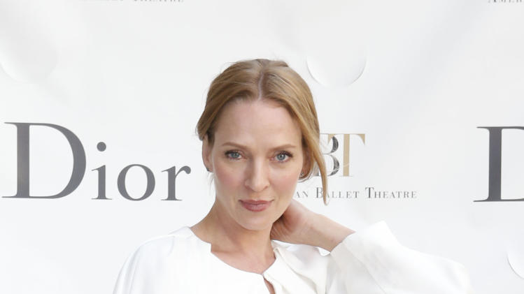 Actress Uma Thurman arrives for the American Ballet Theatre Spring Gala at the Metropolitan Opera House, Monday, May 13, 2013 in New York. (Photo by Jason DeCrow/Invision/AP)