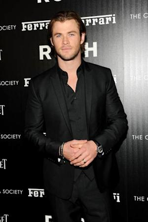 Chris Hemsworth attends the Ferrari & The Cinema Society screening of 'Rush' at Chelsea Clearview Cinemas on September 18, 2013 in New York City -- Getty Images