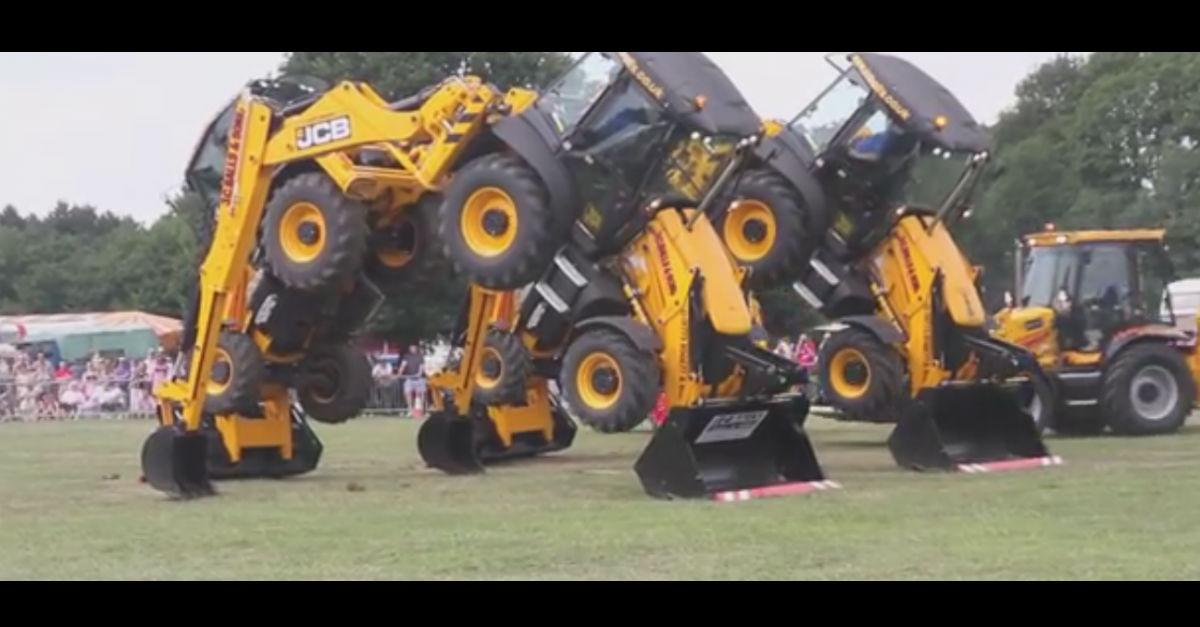 Ever Seen a Tractor Do The Limbo? Check It Out!
