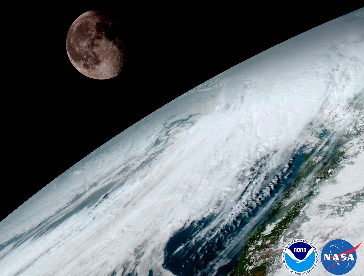NOAA Releases Stunning Earth, Moon Pictures