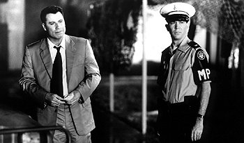 John Travolta and Timothy Hutton in The General's Daughter