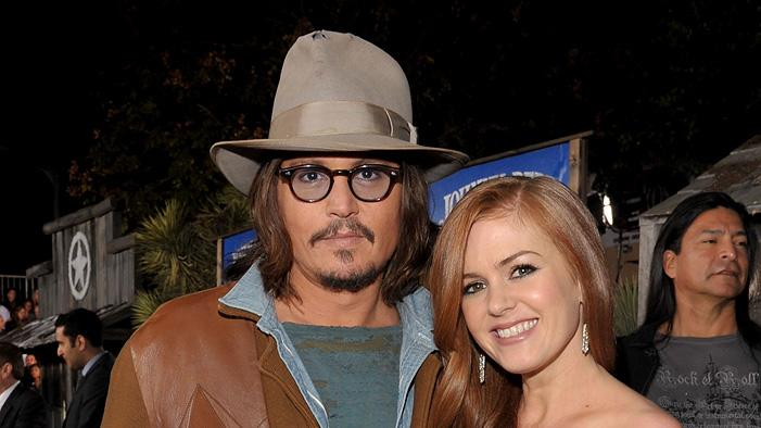 Rango LA Premiere 2011 Johnny Depp Isla Fisher