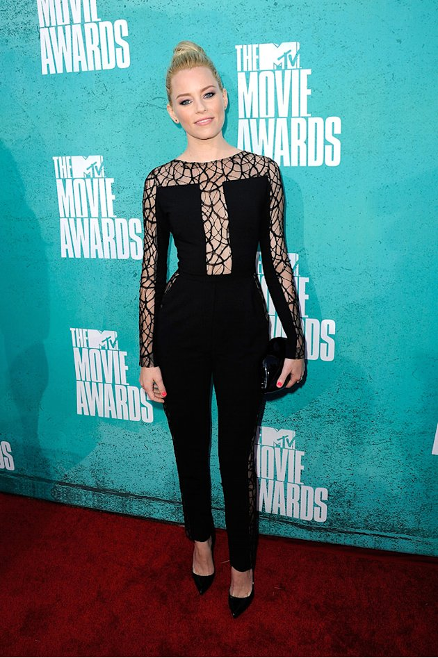 Elizabeth Banks in Elie Saab at the 2012 MTV Movie Awards