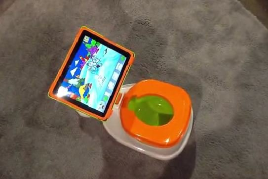 The iPotty is a potty for toddlers with a built-in iPad holder. (Fox)