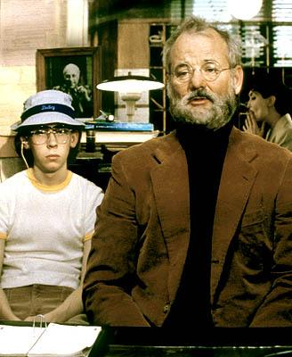 Margot's husband, eminent psychologist Raleigh St. Clair ( Bill Murray ) flanked by his patient Dudley ( Stephen Lea Sheppard ) in Touchstone's The Royal Tenenbaums