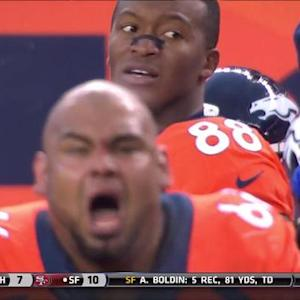 Denver Broncos center Manny Ramirez and wide receiver Demaryius Thomas heated after missed FG