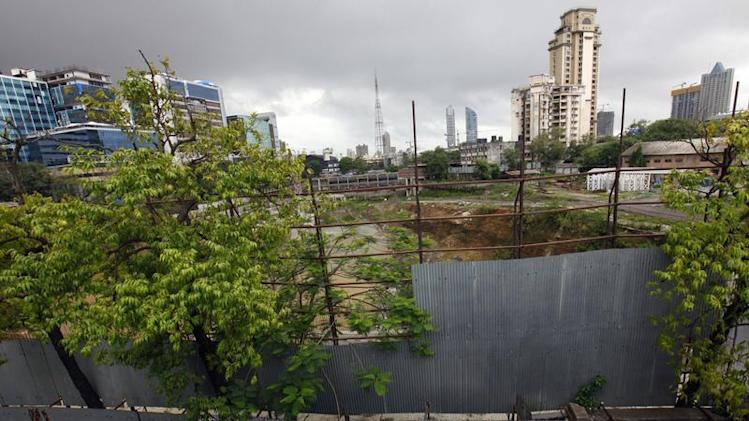 A general overview shows construction site of a DLF commercial complex in Mumbai