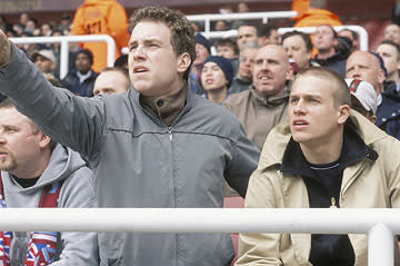 Rafe Spall and Charlie Hunnam in Freestyle's Green Street Hooligans