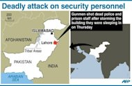 <p>Graphic showing Lahore in Pakistan where gunmen on Thursday shot dead nine police and prison staff after storming a building they were sleeping in.</p>