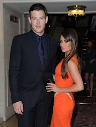 The star arrived on the arm of her beau Cory Monteith