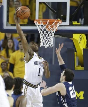 No. 4 Michigan starts slow, beats Penn State 79-71