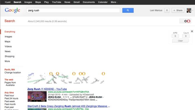 """Search for """"zerg rush"""" to discover the latest easter egg on Google Search"""