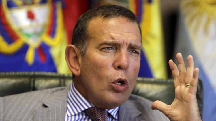 Napout speaks during an interview in Luque