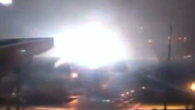 Raw video: New York power station explosion