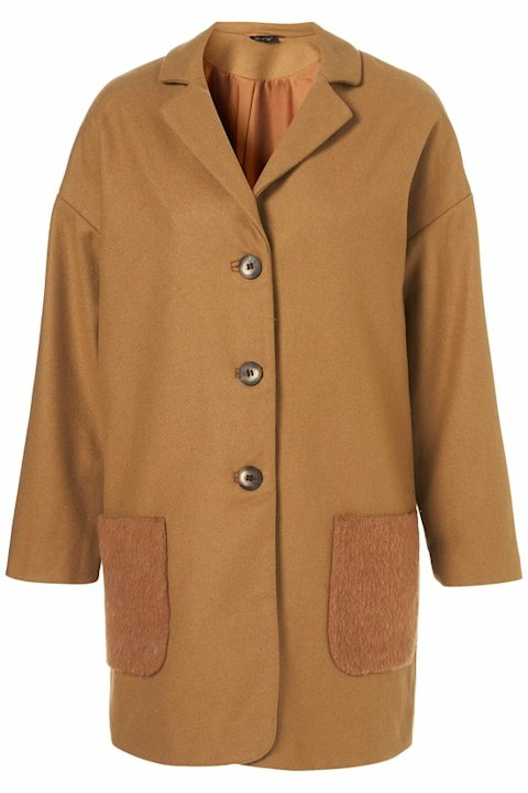 Angora Pocket Boyfriend Coat