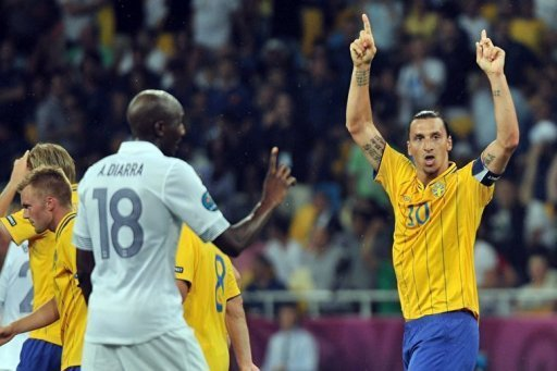 Swedish forward Zlatan Ibrahimovic …