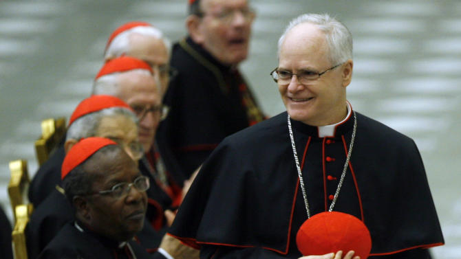 FILE - In this Nov. 26, 2007 file photo, Brazilian Cardinal Odilo Pedro Scherer of Sao Paolo is applauded during an audience with Pope Benedict XVI and the new cardinals in the Paul VI hall at The Vatican. After the resign of Pope Benedict XVI, announced on Monday, Feb. 11, 2013, Cardinal Scherer allegedly is among the contenders to be the pope's successor. (AP Photo/Alessandra Tarantino, file)