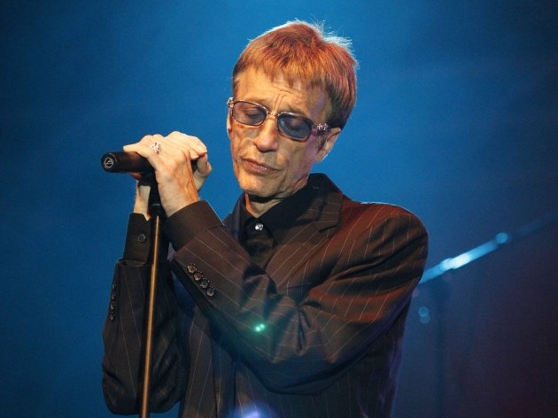 Robin Gibb performs live during a concert at the Stadtwerkefestival in Potsdam, Germany, on July 3, 2011  -- Getty Premium