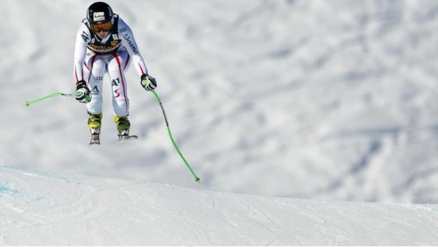 Alpine Skiing - Sterz tops final Meribel downhill training