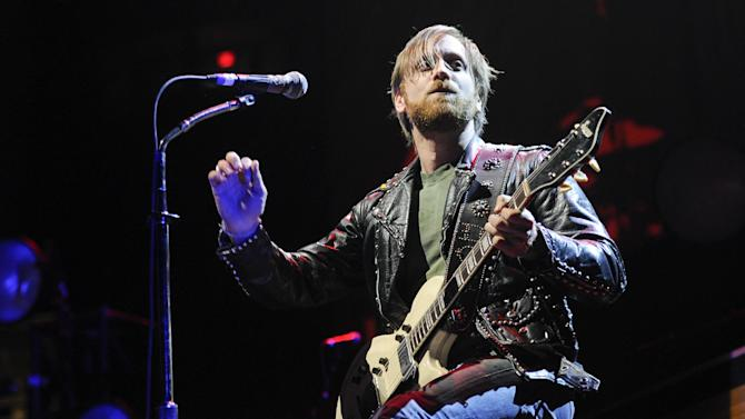FILE - This March 12, 2012 file photo shows guitarist/vocalist Dan Auerbach of The Black Keys performing at Madison Square Garden in New York. The Black Keys, FUN., Mumford & Sons, Rihanna, and Taylor Swift will perform at the 55th Annual GRAMMY Awards on Sunday, Feb. 10, 2013, in Los Angeles. (AP Photo/Evan Agostini, file)