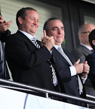 Derek Llambias (right) and Mike Ashley