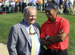 Despite not winning a major since 2008, Tiger Woods is still on pace to break Jack Nicklaus's record. (AP)