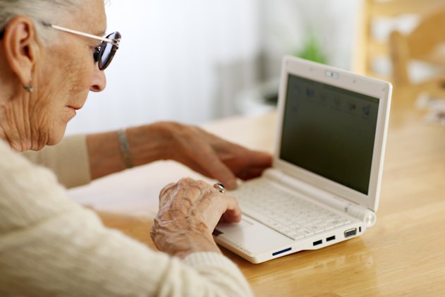 A new campaign aims to help old people get online (Image: Fotolia)