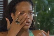 Rihanna cries during her interview with Oprah Winfrey