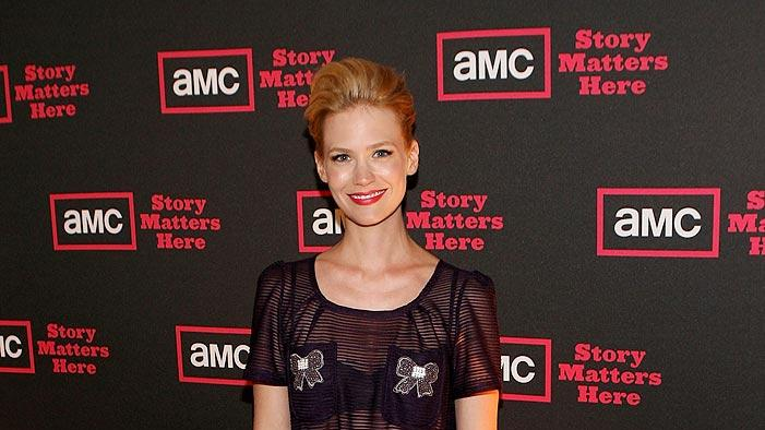 "January Jones (""Mad Men"") attends AMC's 2009 TCA Summer Tour cocktail reception at The Langham Resort on July 28, 2009 in Pasadena, California."